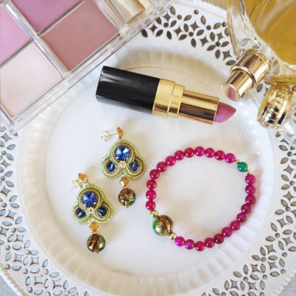 Armband mit Murano-Perle und rotem Achat