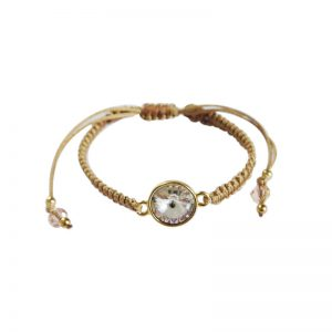 Makramee-Armband mit Swarovski Kristallen von Perlotte Schmuck