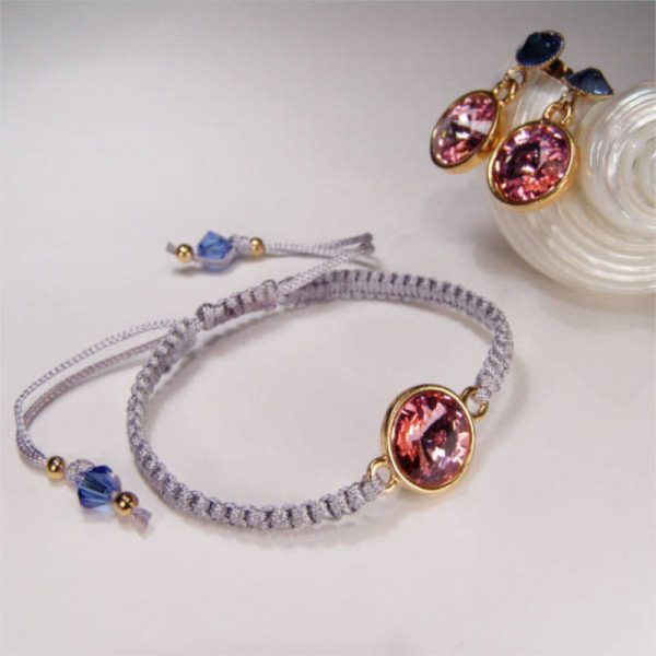 Armband mit Kristall in Rosa