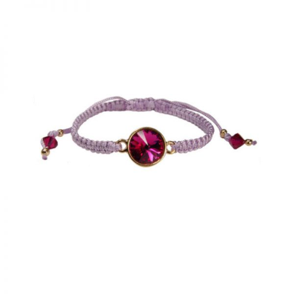 Armband mit Kristall in Fuchsia
