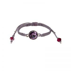Armband mit Kristall in Violett