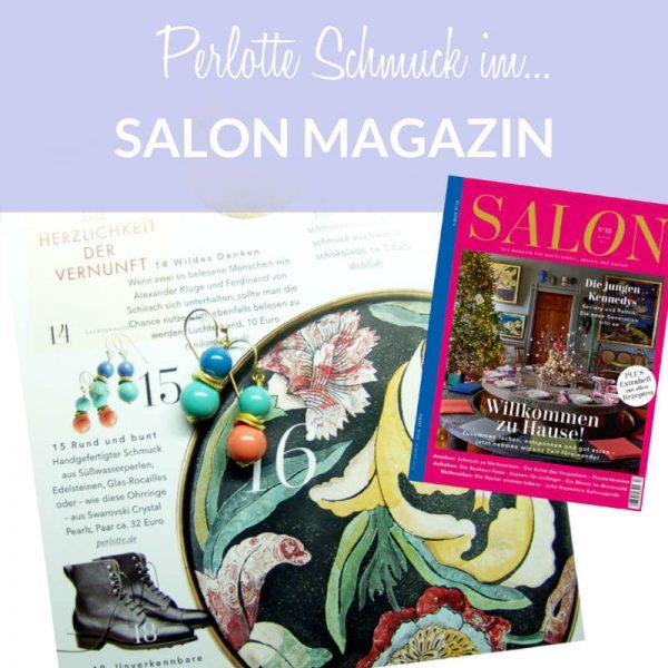 Unsere Ohrringe im Salon-Magazin 11/2017