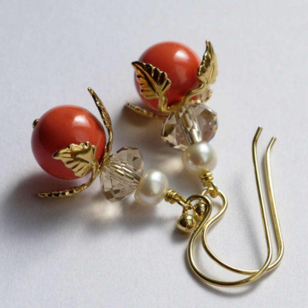 Ohrringe Sommerblüten Living Coral