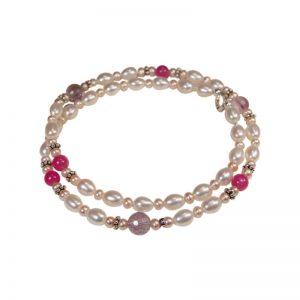 Perlenkette mit Ametrin in Rosa