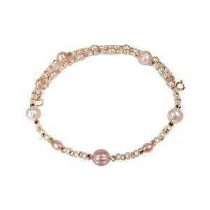 Zarte Perlenkette Brautschmuck