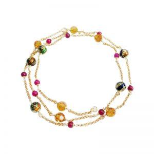 Longkette mit Murano-Glasperlen