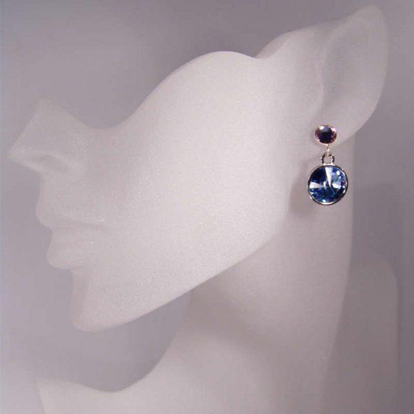 Glitzerohrringe Blau Violett