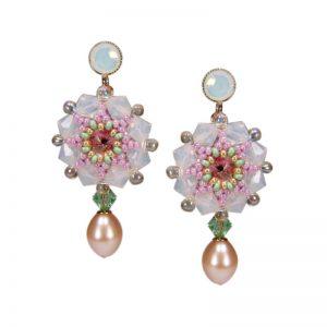 Rocailles-Ohrhänger mit Perle