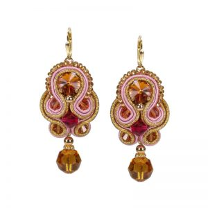Soutache-Ohrringe in Orange-Rot