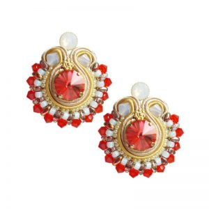 Soutache Ohrringe in Orange