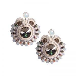 Graue Soutache-Ohrringe