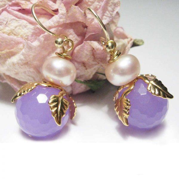 Ohrringe Jadeblüte
