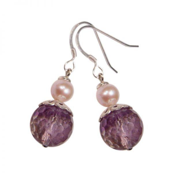 Ohrringe Ametrin und Perle