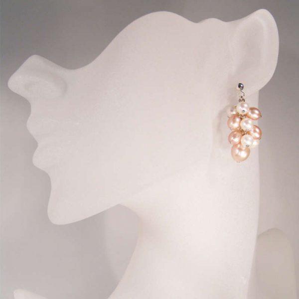 Ohrhänger Perlentrauben in Pastelltönen
