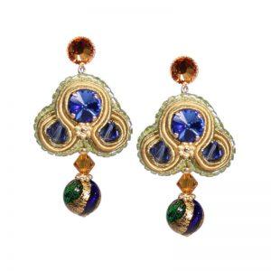Soutache-Ohrringe mit Murano-Perle