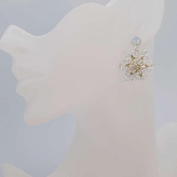 Büste nicht ganz lebensgroß - Ohrringe Schneeflocke