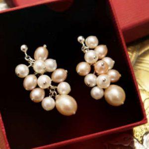 Perlen-Ohrringe