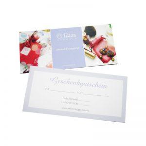 Schmuck-Gutschein als Geschenkkarte